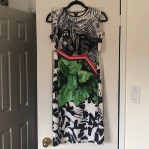 Dress multi coloured designer